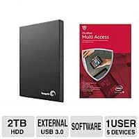 TigerDirect Deal: McAfee Multi-Access Bundles: 2TB Seagate Expansion Portable HDD