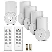 Amazon Deal: 5-Pack Etekcity Wireless Remote Control Outlet Light Switch w/ 2 Remotes