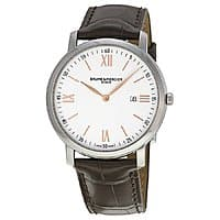JomaShop Deal: Baume & Mercier Men's Classima Silver Dial Brown Watch