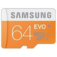 Amazon Deal: 64GB Samsung EVO Class 10 microSD Card