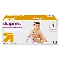 Target Deal: Up & Up Giant Pack Diapers (Size 2-6): 6-Boxes + $50 Target Gift Card $149.94 or 8-Boxes + $80 Target Gift Card $200.91 + Free Shipping