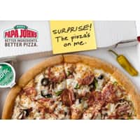 Papa Johns Gift Cards Deal: Papa John's: Free Large 1-Topping Pizza w/ eGift Card Purchase