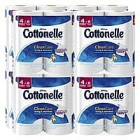 Amazon Deal: 32-Count Cottonelle Clean Care Double Roll Toilet Paper