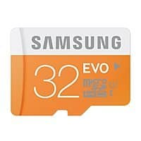 Amazon Deal: 32GB Samsung EVO Class 10 microSD Memory Card