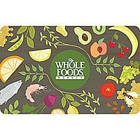 Staples Deal: $50 Whole Foods Market Gift Card $41.99 + Free Shipping