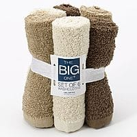 Kohls Deal: Kohls Cardholders: 6-Ct The Big One Washcloths (various colors)