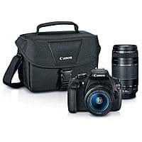 Adorama Deal: Canon EOS Rebel T5 DSLR Camera w/ EF-S 18-55mm f/3.5-5.6 IS II Lens + EF 75-300mm F/4-5.6 III Lens + PRO-100 Printer Bundle $349.99 after $350 Rebate + Free Shipping