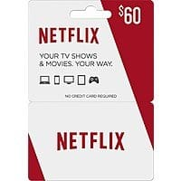 $60 Netflix Gift Card + $10 Best Buy Gift Card