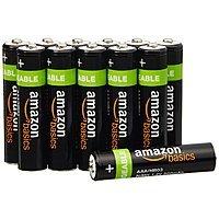 12-Pack AmazonBasics 800mAh AAA Rechargeable Batteries