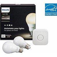 Philips Hue White A19  LED Starter Kit (2nd Gen)