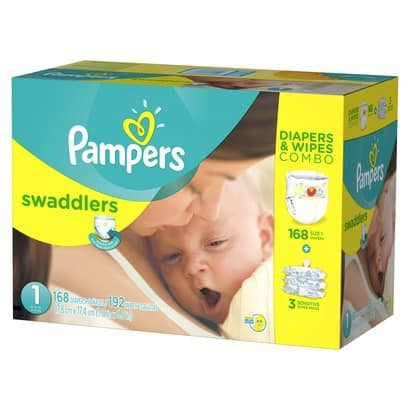 2 Boxes of Pampers Diapers & Wipes Combo Pack + $25 Target Gift Card  $77.40 + Free Shipping