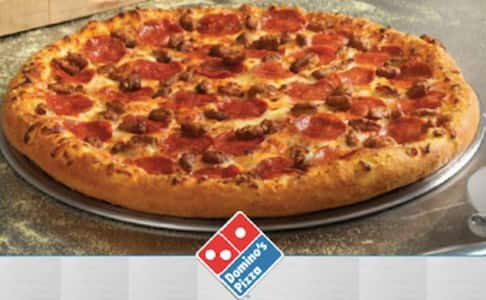 Domino's Large 2 topping pizza carryout special for 5.99 returns Monday 9/29-Sunday 10/5