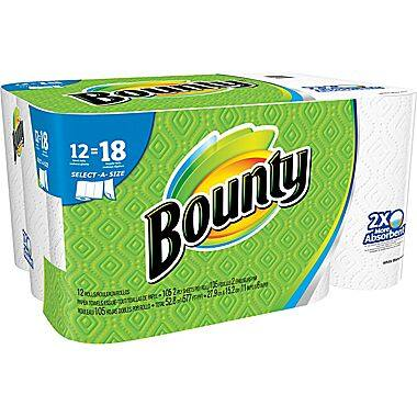 48-Count Bounty Select-A-Size Giant Roll Paper Towels  $45 + Free Shipping