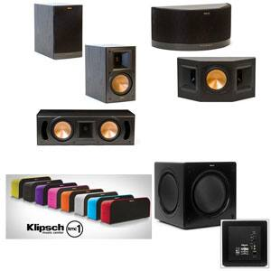 Klipsch RB-51 II 5.1 Home Theater System: 2x RB-51 II Bookshelf, RC-52 II Center, 2x RS-41 II Bookshelf, SW-310 900W Subwoofer, KMC 1 Portable Speaker $999 with free shipping