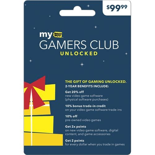 2-Years Best Buy Gamers Club Unlocked  $30 + Free Shipping