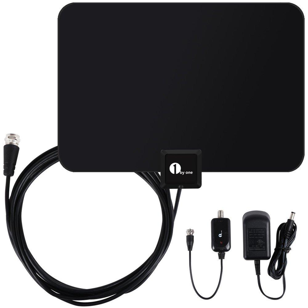 1byone Indoor HDTV Antenna (50 Miles Range)  Free