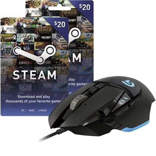 Logitech G502 Proteus Core Gaming Mouse + $40 Steam Wallet Card  $80 + Free Shipping