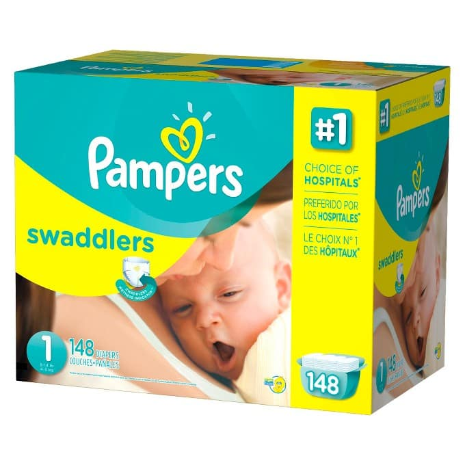 6-Boxes Pampers Giant Pack Diapers + $85 Target Gift Card  $210 + Free Shipping