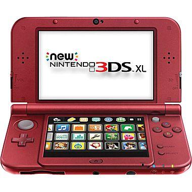 New Nintendo 3DS XL System (Red or black) 149.99 + .29 cent filler item