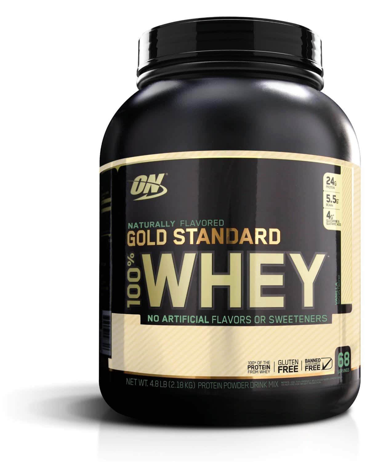 4.8lb Optimum Nutrition Gold Standard 100% Whey Natural  $37.70 + Free Shipping