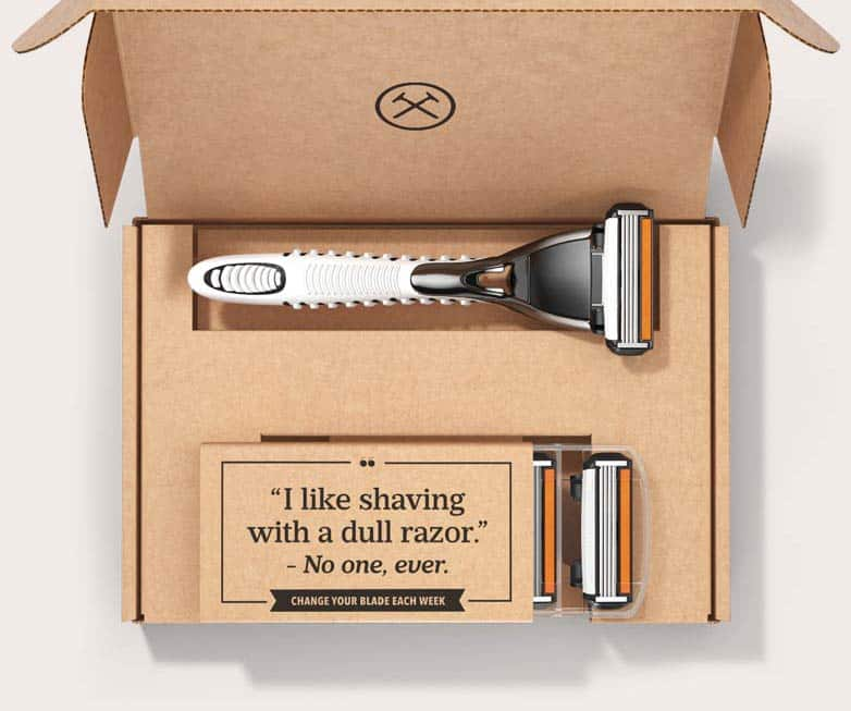 Dollar Shave Club: Executive 6-Blade Razor + 4 Cartridges  Free + Free Shipping