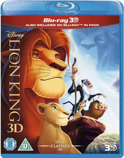 2x Disney 3D Blu-rays (Region Free): Frozen, The Lion King + More  $29