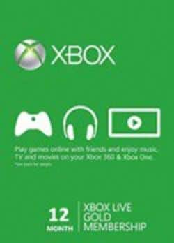 12-Month Microsoft Xbox Live Gold Membership (Email Delivery) $28.94 Gamesdeal.com
