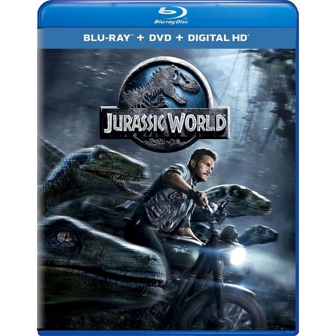 Jurassic World (Blu-ray + DVD + Digital)  $10 (in Target Stores)