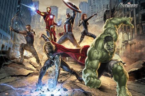 "Marvel Avengers & Marvel Comics Posters: 36""x24"" The Avengers Strike Poster $1.98 & More + Free Shipping"