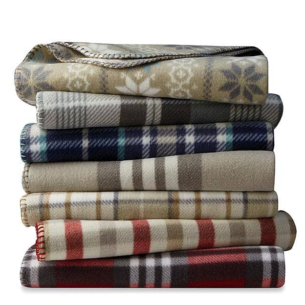 "50""x60"" Cannon Fleece Throw (Various Colors) $1.99 + Free Store Pickup"