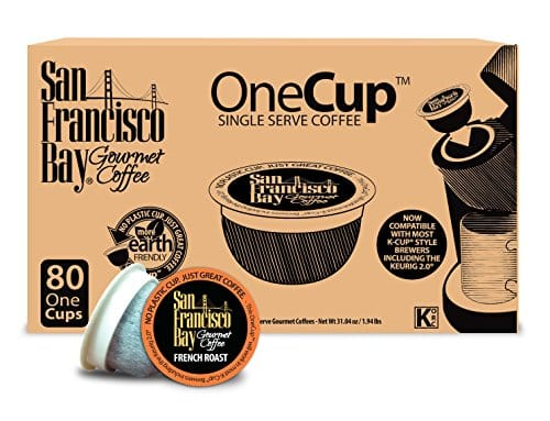 80-Count San Francisco Bay OneCup Single Serve K-Cups (French Roast) $21.37 & More + Free Shipping