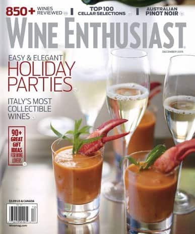 3-Years of Wine Enthusiast Magazine  $6