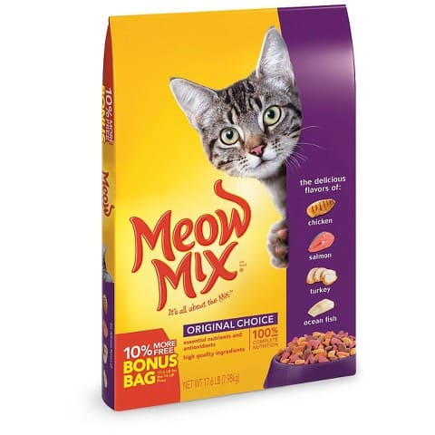 Dog or Cat Food Sale: 32lb Meow Mix Dry Cat Food + $5 Target GC  $15 & More + Free S&H