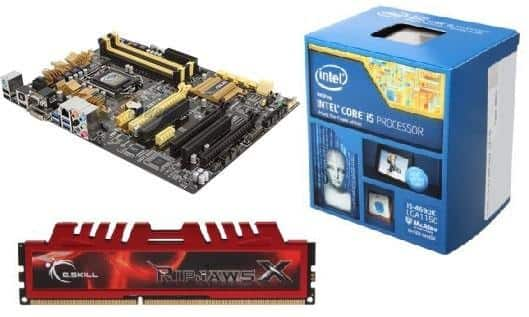 Intel Core i5 4690K Devil's Canyon 3.5 GHz Quad-Core CPU + ASUS Z87-A (NFC Express Edition) MOBO + 8 GB G. Skill Ripjaws X DDR3 1866 Memory for $299.99 + Free Shipping @ Newegg.com