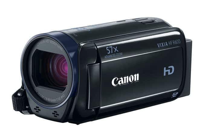 Canon VIXIA HF R600 1080p Camcorder w/ 57x Zoom (Refurbished)  $130 + Free Shipping