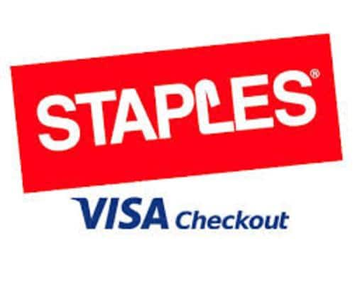 Staples: Additional Savings w/ Visa Checkout  $25 off $100 + Free Shipping