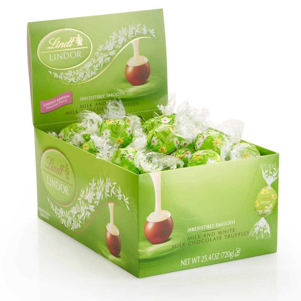 50% Off Select Candy: 60-Ct Lindt Lindor Milk & White Milk Chocolate Truffles Box  $7.55 & More