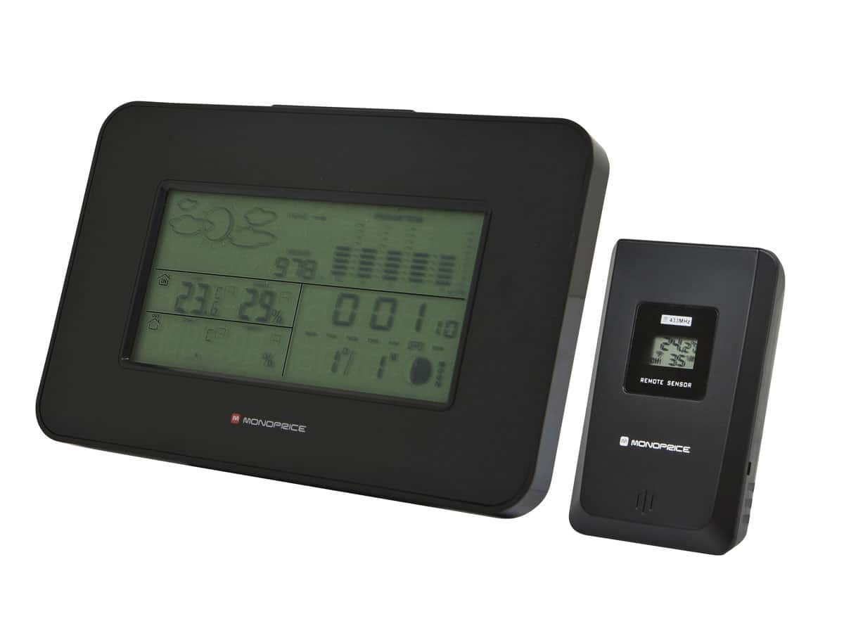 Wireless Multi-zone Weather Station Alarm Clock w/ Outdoor Sensor + Moon Phase  $15 + Free Shipping