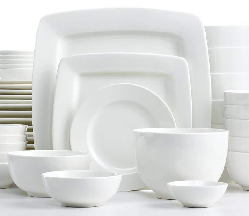 42-Piece White Elements Dinnerware Set (Service for 6)  $26.25 + Free Shipping