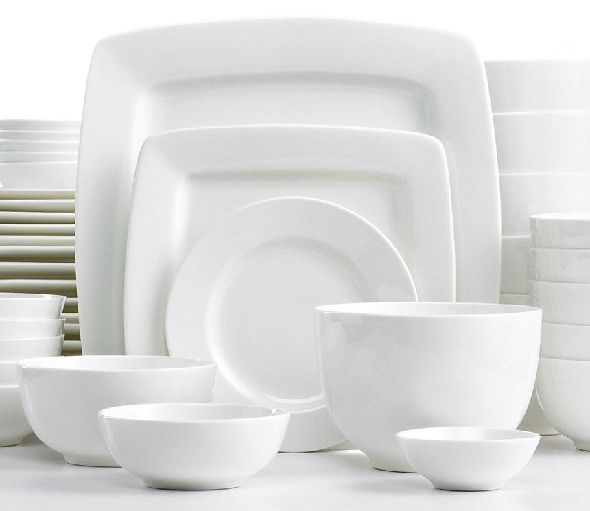 Deal Image & 42-Piece White Elements Dinnerware Set (Service for 6) - Slickdeals.net