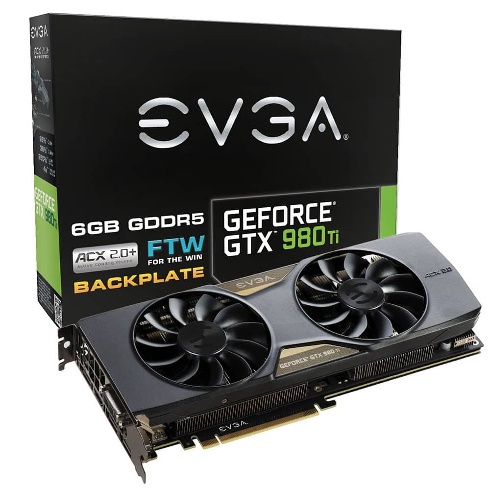 EVGA GeForce GTX 980 Ti FTW 6GB GDDR5 Video Card  $475 after $25 Rebate + Shipping