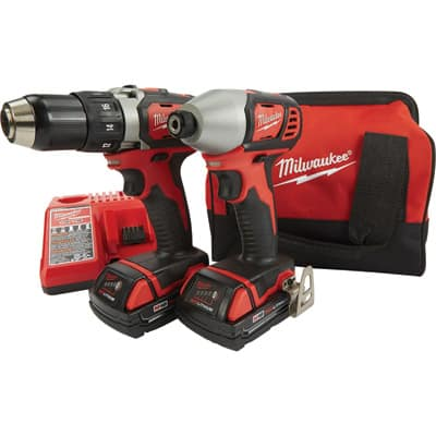 """Milwaukee M18 18V Lith-Ion 1/2"""" Drill / Impact Driver Combo Kit  $155 + Free Shipping"""