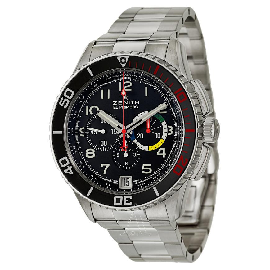 Zenith Men's El Primero Stratos Flyback Rainbow Automatic Watch $3995 + Free Shipping