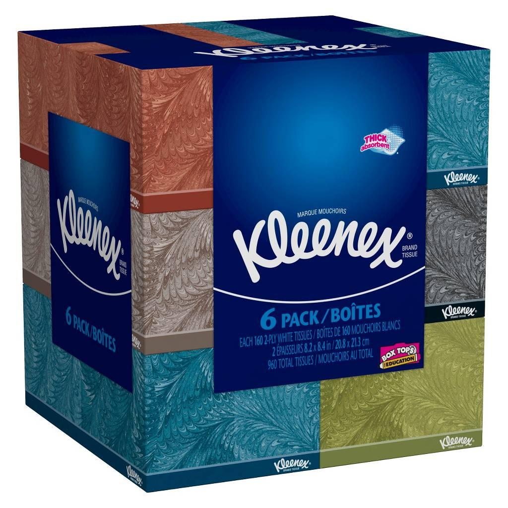 12-Pack 160-Ct Kleenex Facial Tissues + $5 Target Gift Card  $15.30 & More + Free Store Pickup