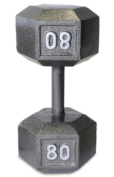 CAP Barbell Cast Iron Hex Dumbbell 55 lb $37.25 80 lb $54.19 100 lb $67.74