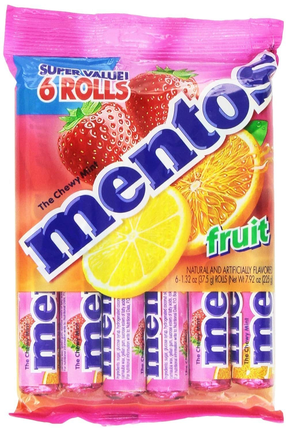 6-Pack 1.32oz Mentos Rolls (Fruit) $2.09 or 15-Pack 1.32oz Mentos Rolls (Mint) $5.18 + Free Shipping