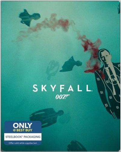Steelbook Blu-rays + Digital HD: Skyfall, Casino Royale + More  $8 each + Free Store Pickup