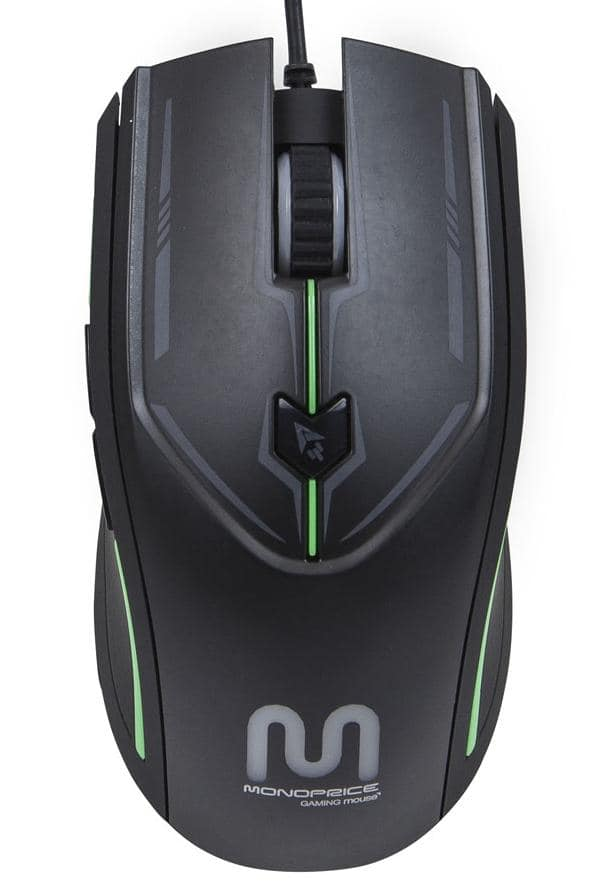 Monoprice 6-Key Gaming Mouse with Comfort Grip and Adjustable Sensor Rate $6.40 + free shipping