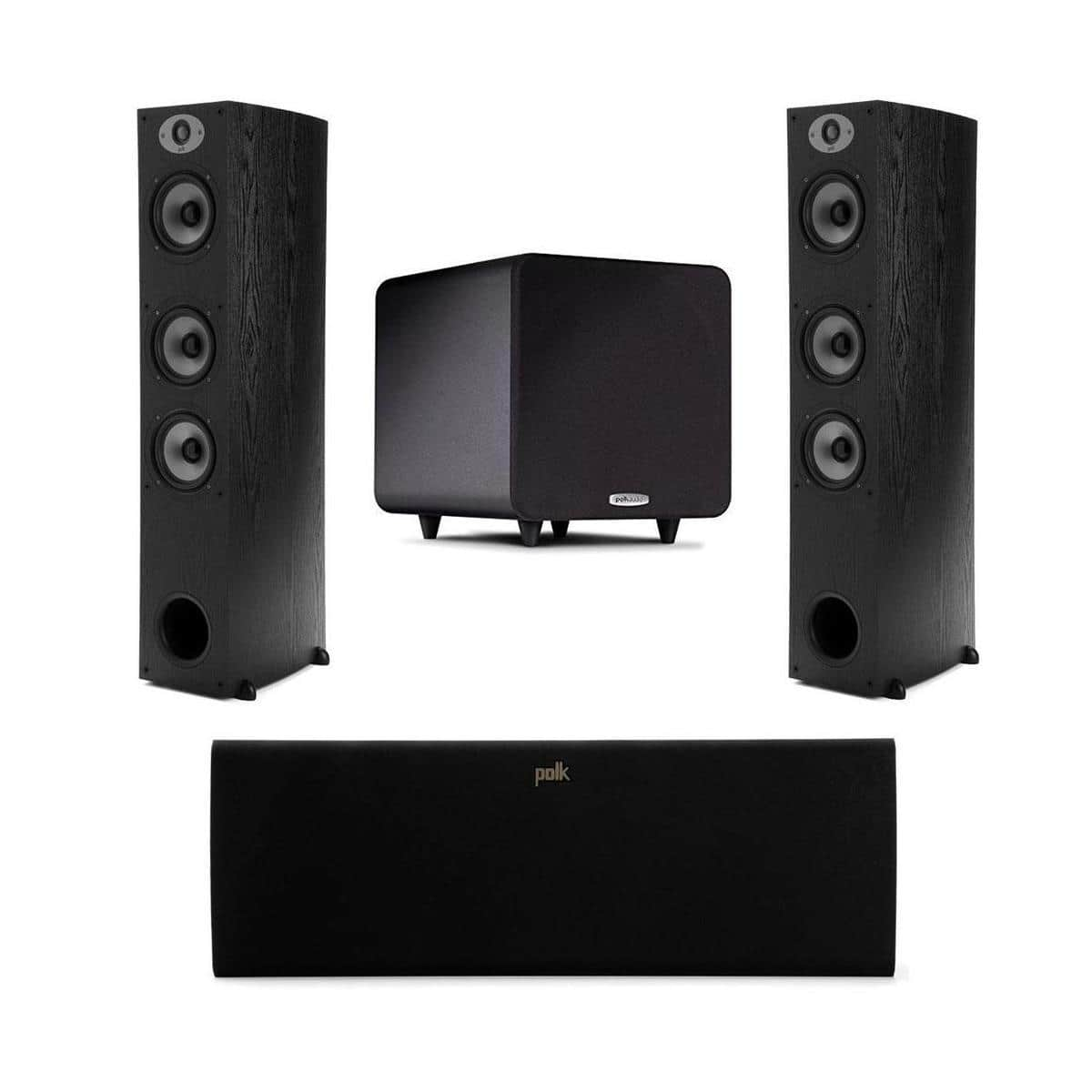 Polk Audio Speaker Bundle: (pair) TSx 440T Towers + TSx 250C Center + PSW111 Subwoofer $650 + free shipping
