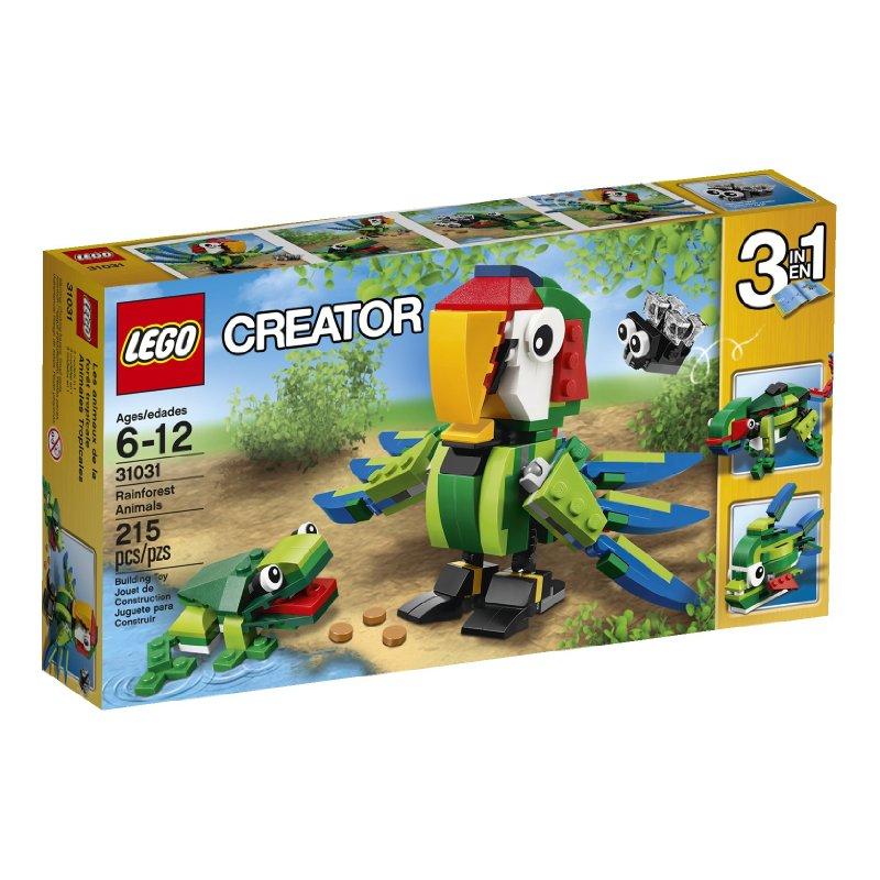 Amazon Lego creator rainforest animals for $10.99 plus free prime shipping